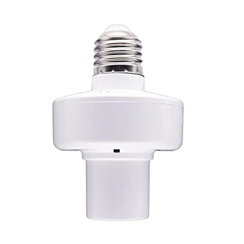 QiKun-Home E27 WiFi Smart Lampenfassung Smart Lamp Head APP Sprachsteuerung Intelligente Lampenkopf Glühlampenfassung für Echo für Google White