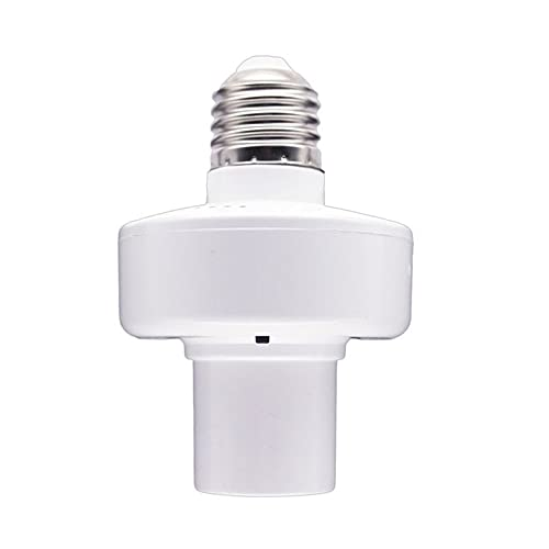 QiKun-Home E27 WiFi Smart Light Socket Smart Lamp Head APP Control de voz inteligente lámpara cabeza bombilla socket para eco para Google blanco