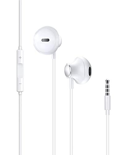 Cuffie con filo,In-Ear Cuffie per iPhone 6,Auricolari con microfono e controllo del volume,per cuffie con jack da 3,5 mm,compatibili con iPhone,iPad,PC,MP3 4,Android,tablet,computer portatili