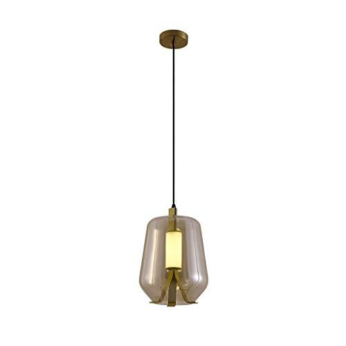 Pointhx Lámpara colgante de hierro nórdico con 1 luz, lámpara de techo industrial para salón, cocina, isla, iluminación interior