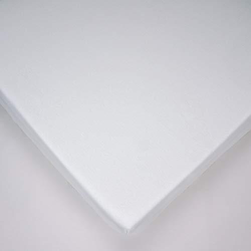 Jersey Blanc Sábana bajera 100% algodón para colchón de cuna de bebé de 90 x 40 cm