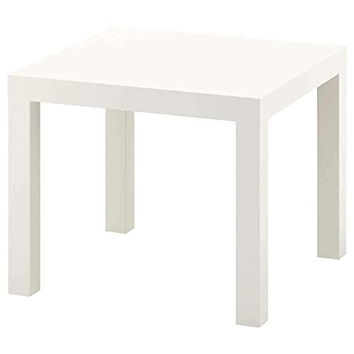 Ikea LACK - Mesa auxiliar pequeña de bajo peso, fácil de mover, 55 x 55 cm, 3 colores, color blanco