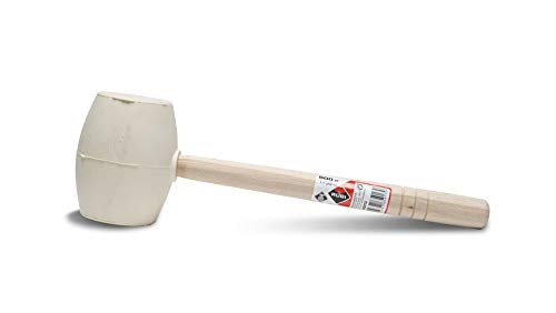 Rubi 65913 Maza de Goma, Blanco, 500 g