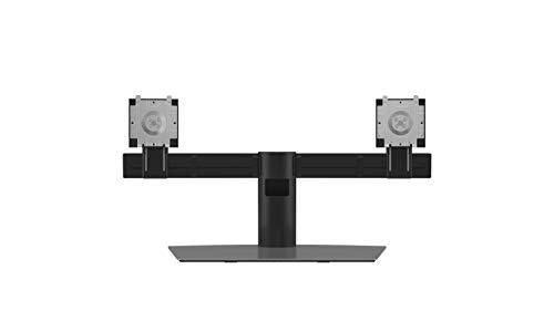 """Dell Dual Monitor Stand 68,6 cm (27"""") Aluminio, Negro Dual Monitor Stand, 6 kg, 48,3 cm (19""""), 68,6 cm (27""""), 100 x 100 mm, Ajustes de Altura, Aluminio, Negro"""