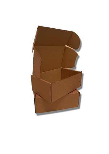Brown Kraft Box Mailer Set of 5 Brown Mailing Boxes Size 222x150x88 With 50...