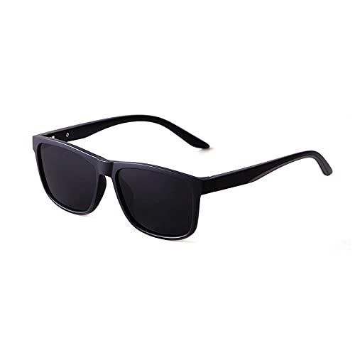 XJW Gafas de sol polarizadas con marco grande con protección UV400, marco de acetato para conducción al aire libre, gafas de pesca 2021/5/21 (color negro arena)