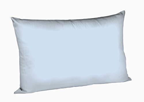 Fleuresse 9200 colours Interlock Jersey Kissenbezug aus 100% Baumwolle, Oekotex Standard 100, 40 x 60 cm, blau