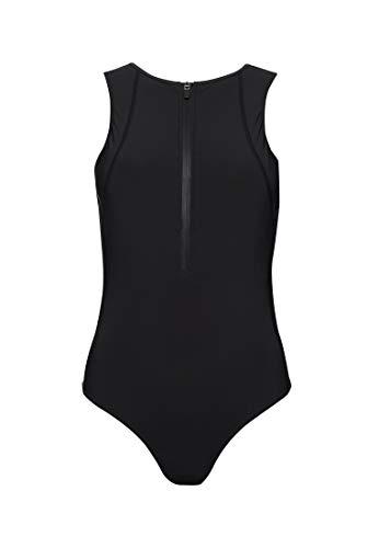 Superdry Damen Swim Sport Badeanzug Schwarz 34