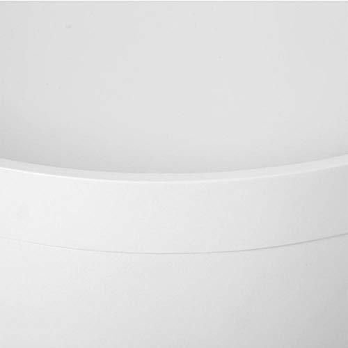 Mesa de centro redonda de almacenamiento blanca + mesa auxiliar de madera para mesa de café, mesa auxiliar de escritorio