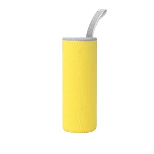 ペットボトルカバー 水筒カバー 断熱ネオプレン 水筒ケース ボトルカバー ホルダー500ml 550ml 600ml 用 (イエロー/yellow)