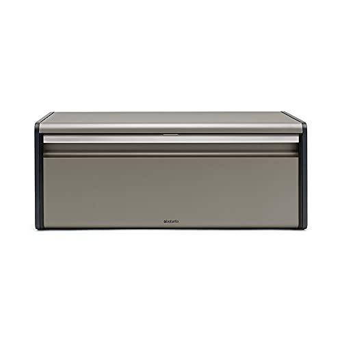 Brabantia 299384 Boîte à pain couvercle abattant Platinum, Argent, 40 x 20 x 10 cm