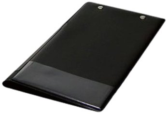 Wedo 57401 klembordmap (A5, met tussenfolie, insteekhoes links en insteekhoes voor pennen) zwart