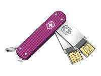 Victorinox Slim Duo 2X 64GB Speicherstick USB 2.0 pink