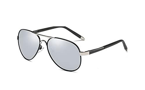 FGDJ Las Gafas De Sol Polarizadas De Los Hombres, Los Espejos Retro De Conducción De Piernas De Resorte Se Pueden Equipar con Gafas De Miopía,A