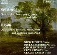 Schubert: Quartet for Flute, Guitar, Viola & Cello / Haydn: Quartet in G for Flute, Violin, Viola & Continuo, Op.5, No.4