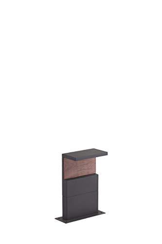 Mantra Iluminación. Modelo RUKA. Baliza de exterior de 35 cm de altura fabricado en aluminio y policarbonato acabado en color gris oscuro