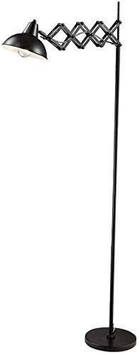 BESTPRVA Oficina Estudio posmoderna Lámpara de pie largo brazo de la lámpara vertical plegables telescópicas creativa de la sala de estar Dormitorio de noche de lectura lámpara de pie