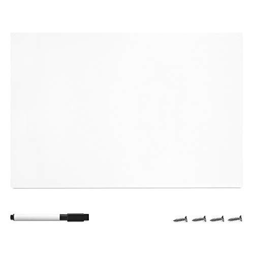 Navaris Magnettafel Magnetboard aus Metall - 60 x 40 x 0,02 cm Magnet Tafel zum Beschriften - Magnetwand inkl. Marker und Befestigung
