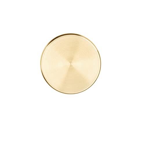 Bac de rangement rond doré Bijoux en acier inoxydable Bijoux Food Sundries de maquillage Organisateur Décoratif Assiette Accessoires (Color : S)