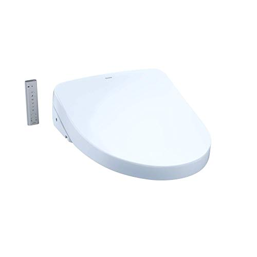 TOTO SW3056#01 S550E Electronic Bidet Toilet Seat with Cleansing Warm, Nightlight, Auto Open and Close Lid, Instantaneous Water Heating, and EWATER+, Elongated Contemporary, Cotton White