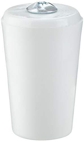 Sysfix - Anschlagstopfen für Rollladen, 12 Stück, mit Schraube und Unterlegscheibe, weiß