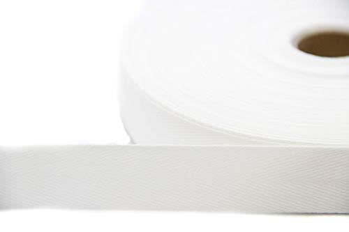 NTS Nähtechnik 50m Rolle Köperband, 10mm breites Nahtband aus 79{6002f0ffda05118ac52307c61512ed0f2cc2a743b38a7100e3175e4aa3b94ced} Baumwolle (weiß, 10)