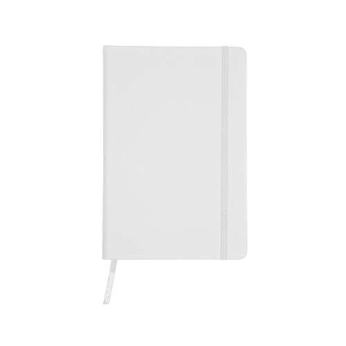 Projects Notizbuch A5 liniert Hardcover Gummiband Lesezeichen 'Business' weiss | Bullet Journal Din A5 Buch 192 Seiten 80g/m² FSC Papier | Journal Notebook Paper A5 lined