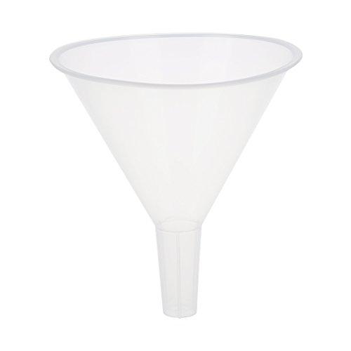 Lopbinte Embudo Filtro de Plastico Transparente Blanco 120ml 4 9/10 Diametro de Boca para Laboratorio