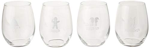 Drunk Christmas Stemless Wine Glasses