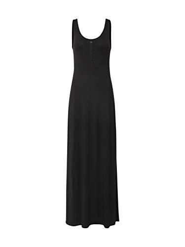 Vila Videll Maxi S/l Dress-Noos Vestido, Negro, 34 para Mujer