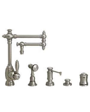 Buy Discount Waterstone 4100-12-4-ORB Towson Kitchen Faucet - 12 Articulated Spout 4pc. Suite Oil R...