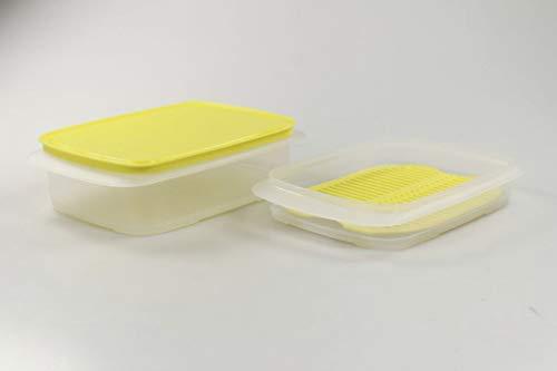 Tupperware Cool`N Fresh 36629 - Recipiente hermético (1,5 L, 700 ml, tapa amarilla)