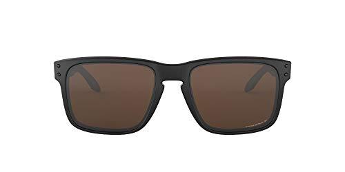 Oakley Men's Holbrook 0OO9102 Polarized Square Sunglasses, MATTE BLACK, 55.02 mm