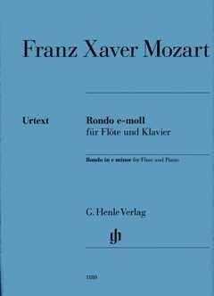 RONDO E-MOLL - arrangiert für Querflöte - Klavier [Noten / Sheetmusic] Komponist: MOZART FRANZ XAVER