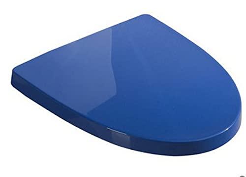 Asiento de Inodoro de Color, Cierre Lento, fácil de Instalar, fácil de Limpiar,, Adecuado para inodoros V y U.-V Blue
