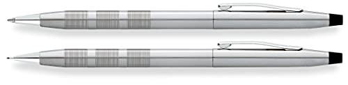 Cross Classic Century - Juego de bolígrafo y portaminas (lápiz, 0,7 mm, grosor de trazo: M), cromado satinado