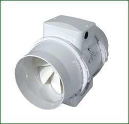 Ventilution Mixed In-Line, 220/280 m³/h, für 125 mm Rohr, Kunststoff, inkl. Wandhalterung,