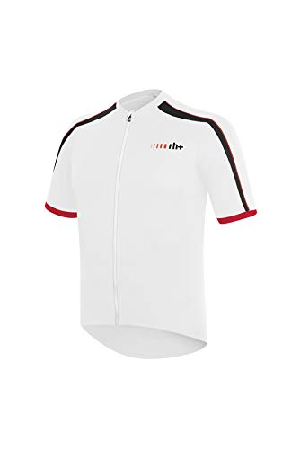 rh+ Prime Evo, Maglietta Uomo, Bianco/Nero/Rosso, M