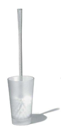 koziol 5048535 Rio Toilettenbürste, Plastik, transparent klar, 10.4 x 10.4 x 46 cm