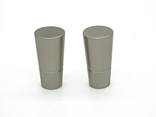 metablo Endstück Topolino a 2 sterlingsilber für Gardinenstangen bis 16 mm