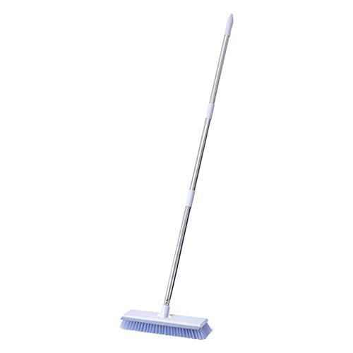 Amusingtao Cepillo de limpieza de suelo para ducha, herramienta de limpieza de cerdas desmontables, mango largo, escoba multiusos para pared, hogar, baño, baño, baño, azulejos de cerámica