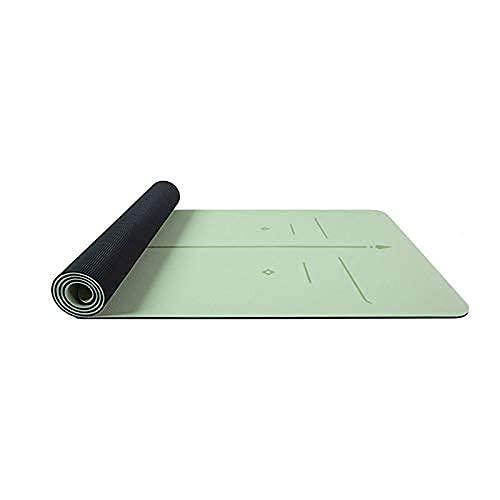 MAT YOGA ECO ECO Friendly Pilates Mat con textura de la superficie de la superficie antideslizante con la correa de transporte con el sistema de alineación del cuerpo EXTRENSIBLE MATS para los entrena