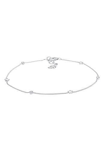 Elli Fußschmuck Damen Sterne mit Swarovski® Kristalle in 925 Sterling Silber