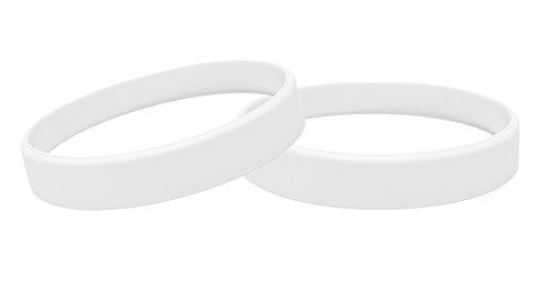 J&R 10, Silikon Armbänder, Händen Gummi Armbänder, Partyzubehör (Weiß)