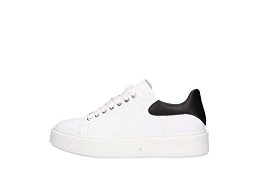 Frau Sneakers, Sneaker Donna, Bianco Bianco Bianco, 39 EU