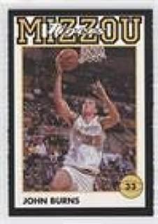 John Burns (Basketball Card) 1992-93 Coca-Cola Missouri (Mizzou) Tigers - [Base] #JOBU