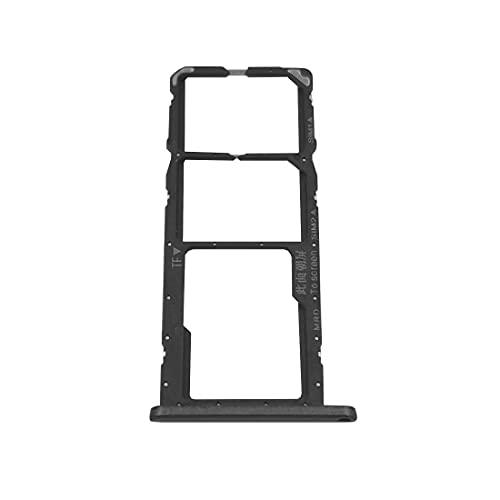 jbTec Dual SIM-Tray/SD-Card Karten-Halter passend für Huawei Y6 2019 - Slot Schlitten Kartenhalter Karte Rahmen Simkarten Simkartenhalter Handy, Farbe:Schwarz