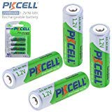 Pkcell 4 Pack AA Rechargeable Batteries, 1.2V 2200mAh Ni-Mh R6 Pre-Charged Battery for Remote Control, Toys, Solar Lawn Lamp, Flashlight, Emergency Lamp, Grass Cutter etc