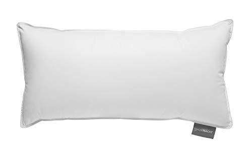 Traumnacht Komfort Dreikammerkissen, mit hochwertigen Daunen und Federn Klasse, DIN EN 12934, 40 x 80 cm