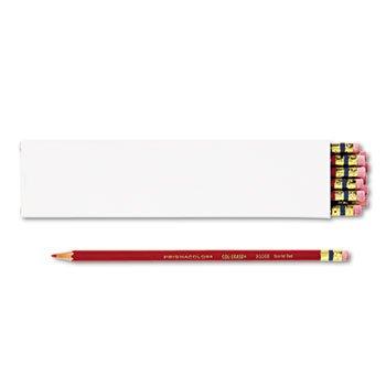 Prismacolor 20066 Col-Erase Pencil w/Eraser Scarlet Red Lead/Barrel Dozen